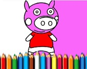 Раскрась свинку