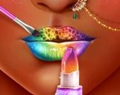 Салон макияжа губ принцессы