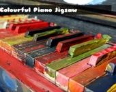Цветное пианино - Пазл