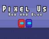 Пиксельные Амонг Ас: красный и синий