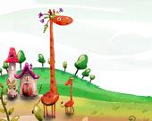 Пазл Мультяшный Жираф