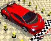 Парковка для автомобилей с элементами головоломки