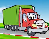 Раскраска: Счастливые грузовики