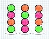 Сортируй мячи в тетрадке
