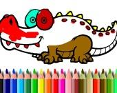Раскраска: Аллигатор