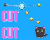 Обрежь веревку для котика