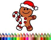 Рождественские пряники: Раскраска