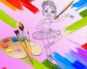 Маленькая балерина Раскраска