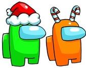 Амонг Ас. Рождественская раскраска