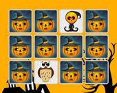 Хэллоуин: детская игра на память, найди соответствия