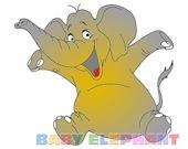 Раскрась слоненка