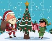 Рождественские открытки - Пазл