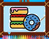 Детская пекарня: раскраска