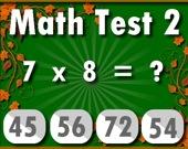 Математический тест 2