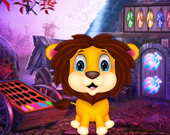 Побег милого львенка
