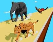 Гонка животных 3D