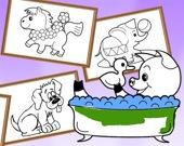 Раскраски для детей - животные