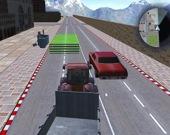 Управление трактором: сбор мусора