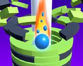 Падающий мяч: крушение башни 3D