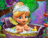 Пикси принимает ванну