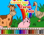 Раскраска: Животные на ферме