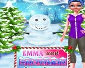 Эмма и Снеговик. Рождество