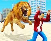 Нападение дикого льва 3D