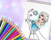 Раскраска: Удивительные принцессы