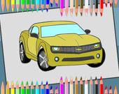 Раскраска: Американские автомобили