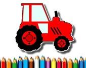 Маленькие дети: Раскраска трактора
