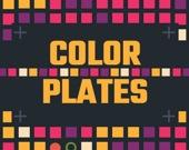 Цветные тарелки