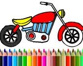 Раскраска: Мотоциклы