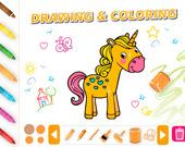Нарисуй и раскрась животных