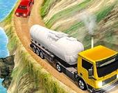Грузовик с цистерной для перевозки нефти