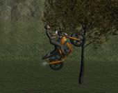 Гонка на мотоцикле по горам