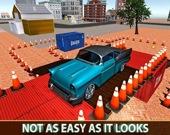 Парковка классического авто 3D
