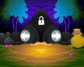 Побег из пещеры в лесу