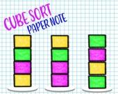 Сортируй кубики в тетрадке
