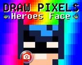 Пиксельные рисунки: Лица героев