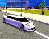 Управление лимузином в большом городе