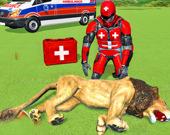 Спасение животных роботом-героем