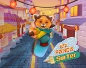Красная панда - серфер