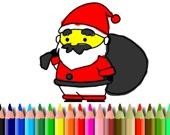 BTS Санта Клаус: игра-раскраска