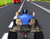 Квадроциклы на шоссе