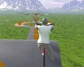Экстремальные скоростные велотрюки