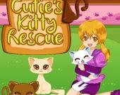 Спасение милого котёнка