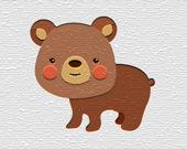 Пазл: Мультяшный медведь