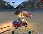 Разрушительное мультипликационное автомобильное дерби