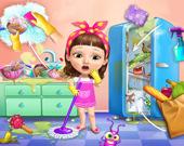 Милашка убирает грязный дом
