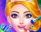 Наряд и макияж для принцессы - раскраска